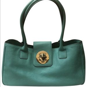 Kate Spade Vintage Turquoise Leather Tote